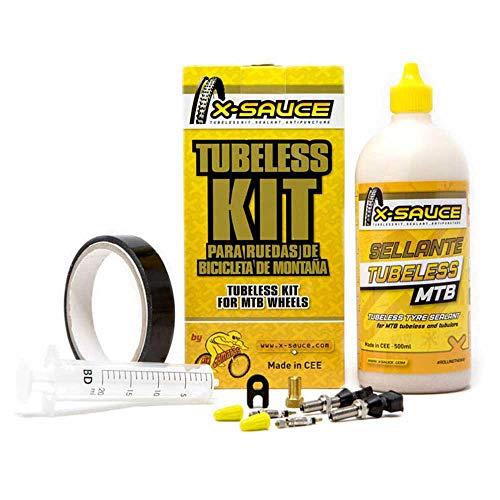 Team 17 X-Sauce Kit TUBELESS MTB V. Fina - Cinta Negra 23mm