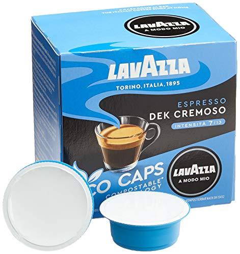 Lavazza 16 A Modo Mio Eco Caps Kapseln, kompostierbar, Kaffee Espresso Dek Cremoso, Entkoffeinierter, 1 x 16er Pack (120 g)