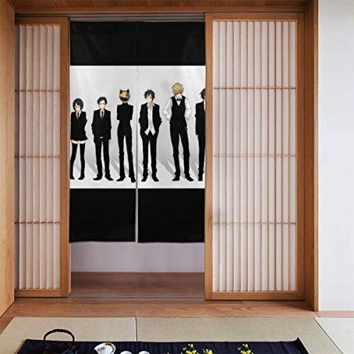 Hkdfjg Anime Du-rar-ara Door Curtains Blackout Protection Privacy Dust-Proof Door Curtain Blind for French Door Panel Doorways or Windows Wall Mount Multifunction Door Curtain