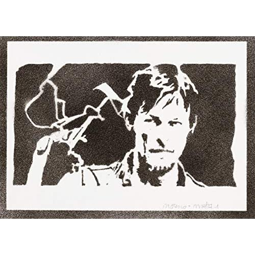 Poster Daryl Dixon The Walking Dead Handmade Graffiti Street Art - Artwork