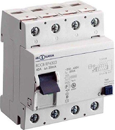 Preisvergleich Produktbild ABL SURSUM FI-Schutzschalter RP4303 4p,  40A,  0, 03A Fehlerstrom-Schutzschalter 4011721100463