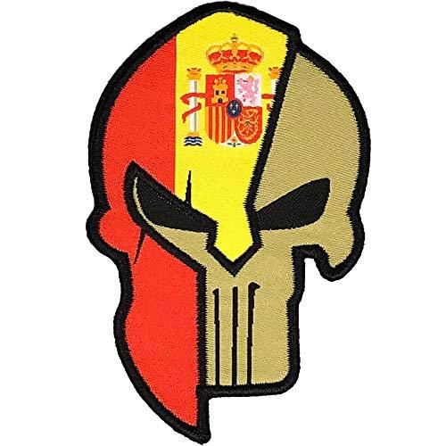 Parche Espartano Bordado Español - Bandera España -Parche España - Parches Mochila -Táctico Militar - 8,55 x 5,4 cm