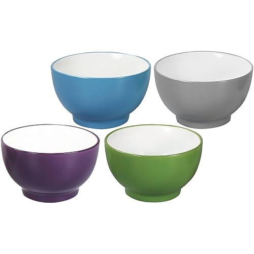 76cd483b311b7 COM-FOUR® 4x cereal bowl colored, 350ml, porcelain, soup bowl,