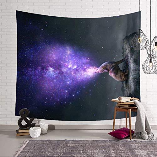 shuimanjinshan Tapiz de Pared de Cielo Estrellado Almohadilla para Dormir Galaxy Colgante de Pared Hippie Boho Tapiz Alfombra de Playa Alfombra 150(H) X230(An) Cm