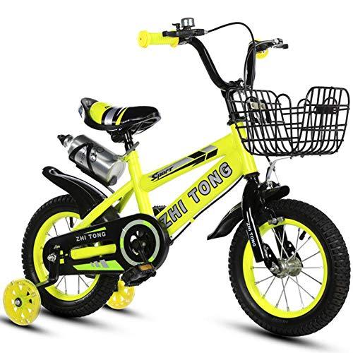 Kinderfiets fiets kindersportgeschenk voor 3-6 jaar jongens en meisjes, de fiets trainen verdikker, verbrede banden met rem