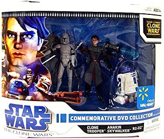 Star Wars Clone Wars Animated Exclusive Action Figure 3-Pack Commemorative DVD Collection 2 (Anakin Skywalker, R2-D2 and Clone Trooper)