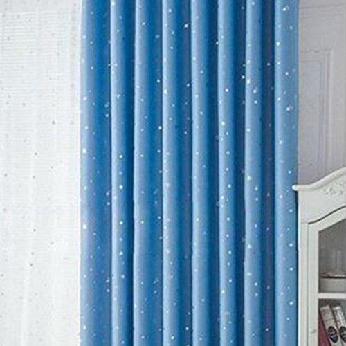 MOOUK 1 cortina opaca para dormitorio, sala de estar, estudio, habitación de los niños (100 x 250 cm), color azul cielo