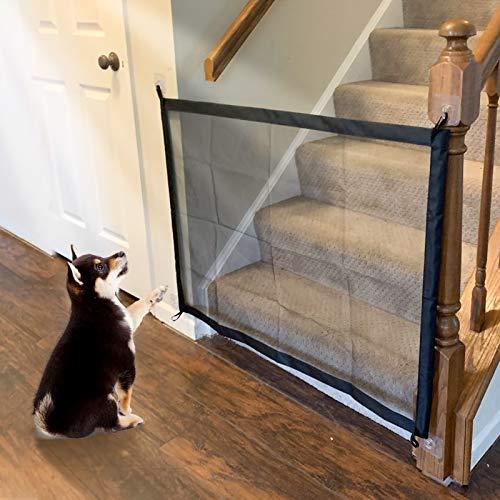 Namsan Hundeschutzgitter Hund Treppenschutzgitter Ohne Bohren Hundegitter Schutzgitter für Hund 110 X 72 cm