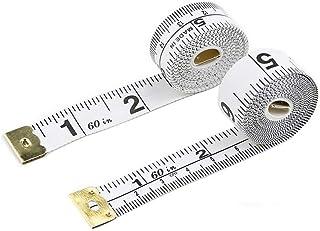 CCINEE White Tape Measure, Double Scale Measuring Tape Size150cm/60inch-1Piece
