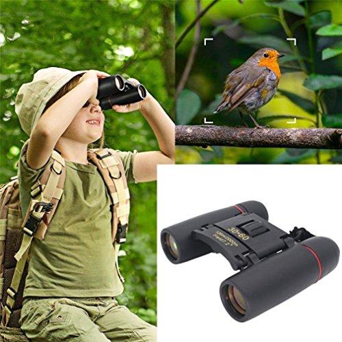 huichang Jumelles 30 × 60 - Petites jumelles compactes - Télescopiques étanches - Pour enfants - Avec sac et sangle - Observation des oiseaux, de la chasse, des appareils de safari