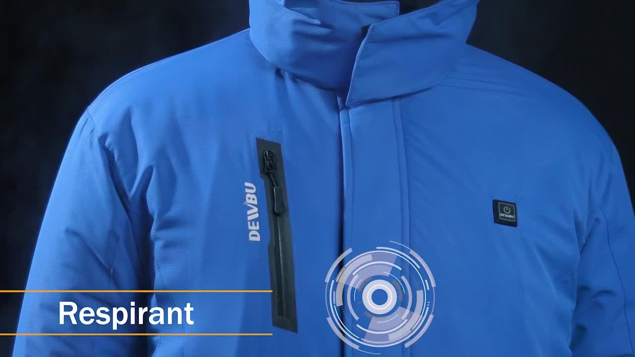 DEWBU Veste Chauffante Homme avec Batterie Coton Chauffante pour Les Activit/és en Hiver