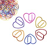 Cute Love Heart Paper Clips Bookmark Paperclips 60 Counts, Office Supplies Gifts Love Gifts Idea for Women Coworker Students Teachers