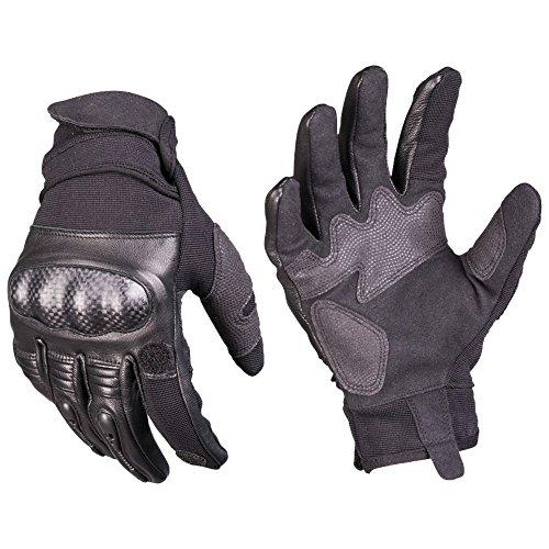 Mil-Tec Handschuhe Tactical Gloves Gen. II Leder schwarz Größe XL