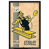 w15y8 Pittsburgh Steelers - Retro Logo Poster Dekorative