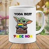 N\A Bebé #Yoda Best Pride Mom LGBT #Star #Wars Película Cerámica Regalo Tazas Divertidas Tazas