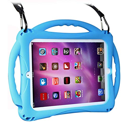TopEsct Kids Case for ipad 2 3 4, Shockproof Handle Stand Case with Pencil Holder Compatible with Apple iPad 2,iPad 3,iPad 4 (iPad 2/3/4, Blue)