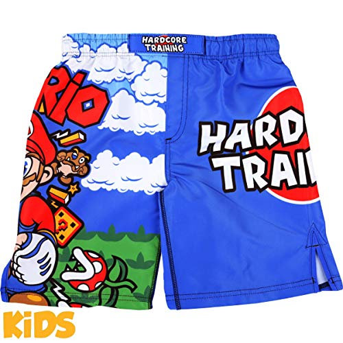 Hardcore Training MMArio Kids Boxing Shorts Kurze Hose Kinder Boxen Fitness Kampfsport Muay Thai