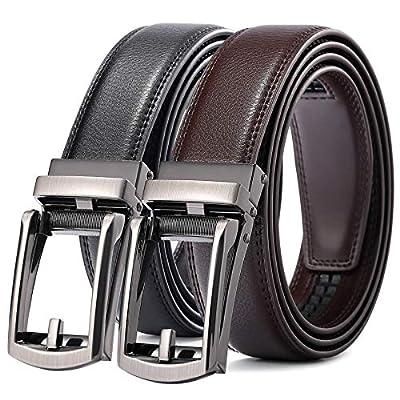 CHARS Men's belts Ratchet Leather Belts for men, Waist Leather Ratchet Dress Belt with Automatic Buckle