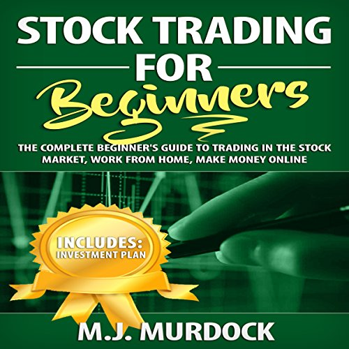 Stock Trading for Beginners: The Complete Beginner's Guide to Trading in the Stock Market, Work from Home, Make Money Online audiobook cover art