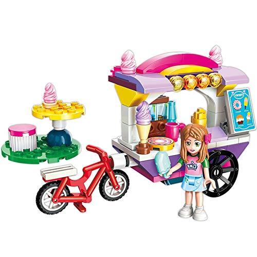 Bloques de construcción Enlighten City Friends Princess Ice Cream Car Coloridas Vacaciones Stall Stage Building Blocks Sets Juguetes para Niños Compatibles