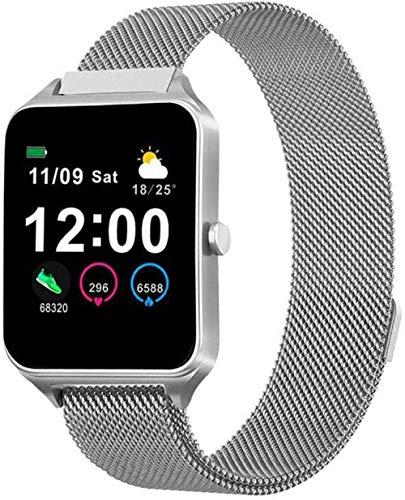 ZHENAO Smart Watch, 1,4 Pulgadas Táctil de Color Completo Pantalla de la Presión Arterial Reloj de Pulsera de Aptitud, con Monitor de Oxígeno de Sangre Podómetro-5 Exquisito / 4