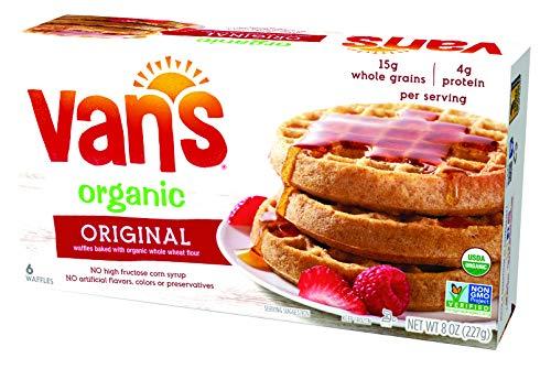 Van's Frozen Simply Delicious Whole Grain Organic Waffles, Original, 8 Ounce