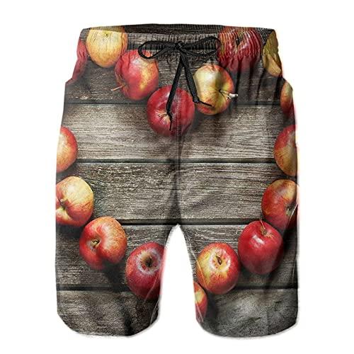 Olverz Swim Trunks Heart Shaped Apples Lightweight Beach Shorts for Men...