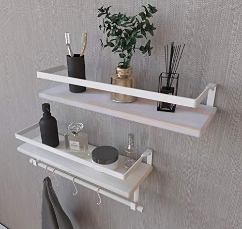 Giantex Over-The-Toilet Rack Bathroom Shelf Storage Cabinet Wooden Drop Door Freestanding Spacesaver Improvements, White