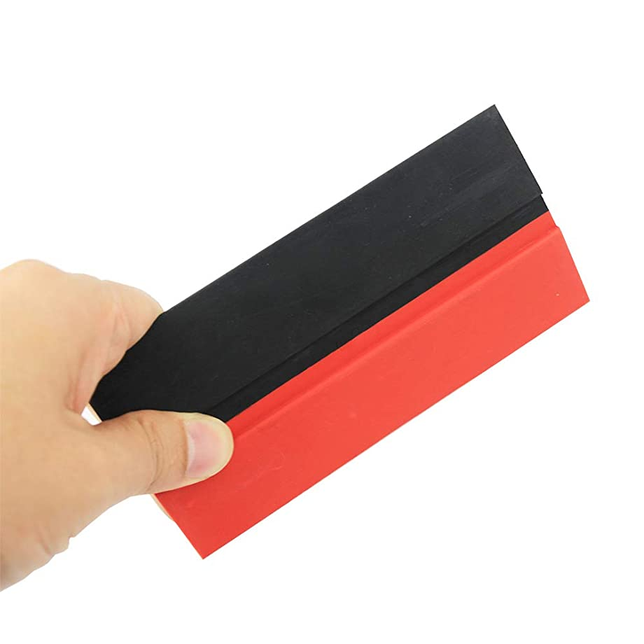 Car Window Tinting Squeegee Double Edge TPU Rubber Squeegee Car Decal Wrapping Film Fitting Tool, Vinyl Install and Glass Cleaning Scraper
