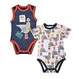 Juego de 2 bodies de manga corta para bebé niño Riviera Boy – Talla – 3 meses (62 cm)