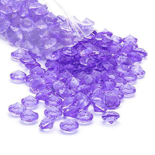 Royal Imports Acrylic Diamonds Gemstones, Crystals Rocks, Vase Fillers Party Table Scatter Wedding Banquet Event Party Crafts - 3 LBS (Approx 450 gems) - Lavender