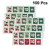 SUPVOX 100 pezzi adesivo per francobolli natalizi adesivo autoadesivo regalo di natale dec...