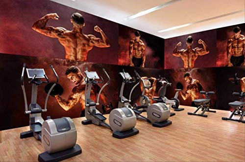 Large Custom Mural Wallpaper of Any Size Creative Personality Muscular Handsome Guy Gym Yoga Cafe American Style Wall