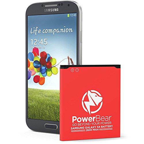 Batteria Compatibile per PowerBear Samsung Galaxy S4   2,600 mAh Batteria Li-Ion per Galaxy S4 [I9505]   Batteria Sostitutiva S4 [24 Mesi Di Garanzia]