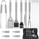 Anpro Grilling Accessories BBQ Tools Set, 15 PCS Stainless Steel Grill Kit with Case, Great Barbecue...
