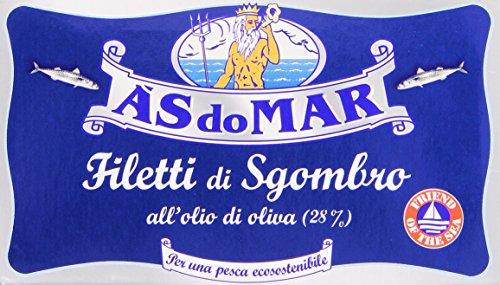 Asdomar - Filetti Di Sgombro, All'Olio Di Oliva - 5 pezzi da 125 g [625 g]