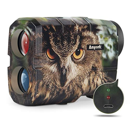 Anyork Rechargeable 1000 Yards Hunting Range Finder ,Water Resistant Wild Coma Rangefinder for Shooting , 6X Magnification Laser Rangefinder with Scan, Gift Package
