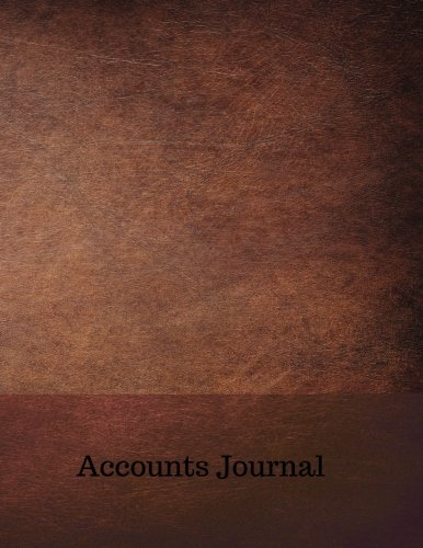 Accounts Journal: Journal Entries : General . Notebook With Columns For Date, Description, Reference, Credit, And Debit. Paper Book Pad with  100 Record Pages 8.5 In By 11 In
