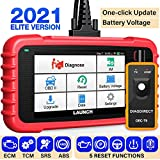 LAUNCH CRP129X OBD2 Scanner, LAUNCH Scan Tool 2021 Elite, Car Scanner for Engine at ABS SRS with Oil/EPB/SAS/TPMS/Throttle Body Reset, Automotive Code Readers with TPMS Gift, Lifetime Free Update