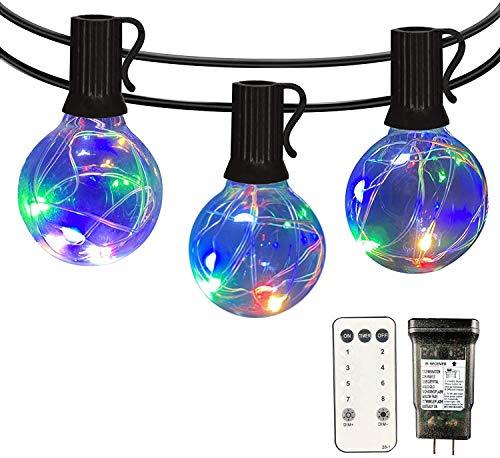 LED String Lights Outdoor - IELECMG 35 FT G40 Patio String Lights 32...