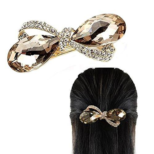 Dontdo Barrette à cheveux élégante et étincelante incrustée de strass pour femme