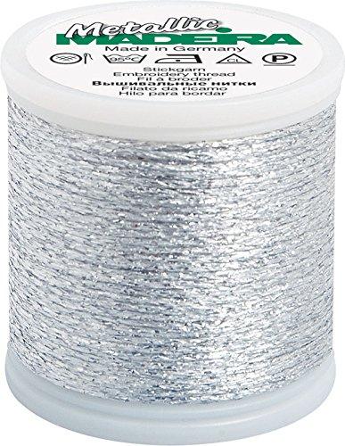 Metallic, No. 20, 50m, Stärke 20, 2042 silber, Nähgarn, Klöppelgarn von Madeira