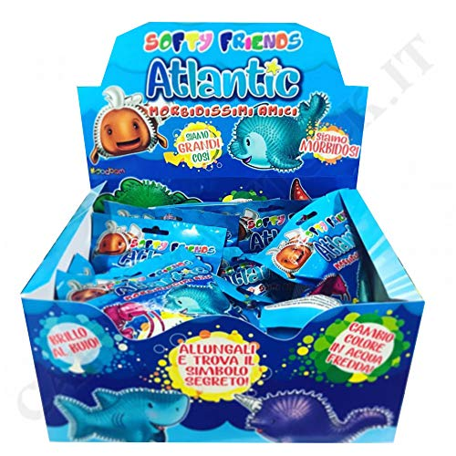 Sbabam Display 10 Softy Friends Atlantic Antistresskugeln und Gummi, Mehrfarbig, 0645760749617