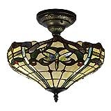 Dale Tiffany TH12151 Cabrini Flush Mount Light Fixture, Bronze