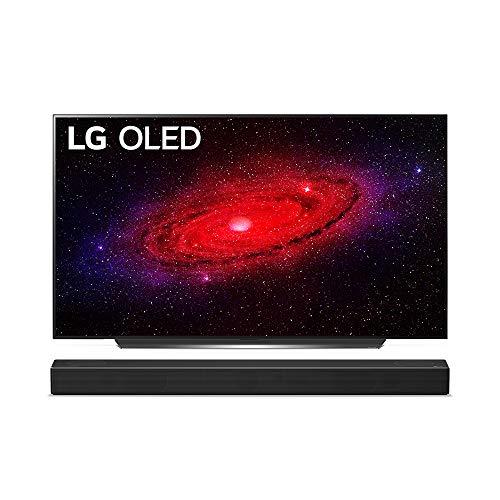 LG OLED55CX9LA 139 cm (55 Zoll) OLED Fernseher (4K, Dual Triple Tuner (DVB-T2/T,-C,-S2/S), Dolby Vision, Dolby Atmos, Cinema HDR, 100 Hz, Smart TV) [Modelljahr 2020] + Soundbar [Modelljahr 2020]