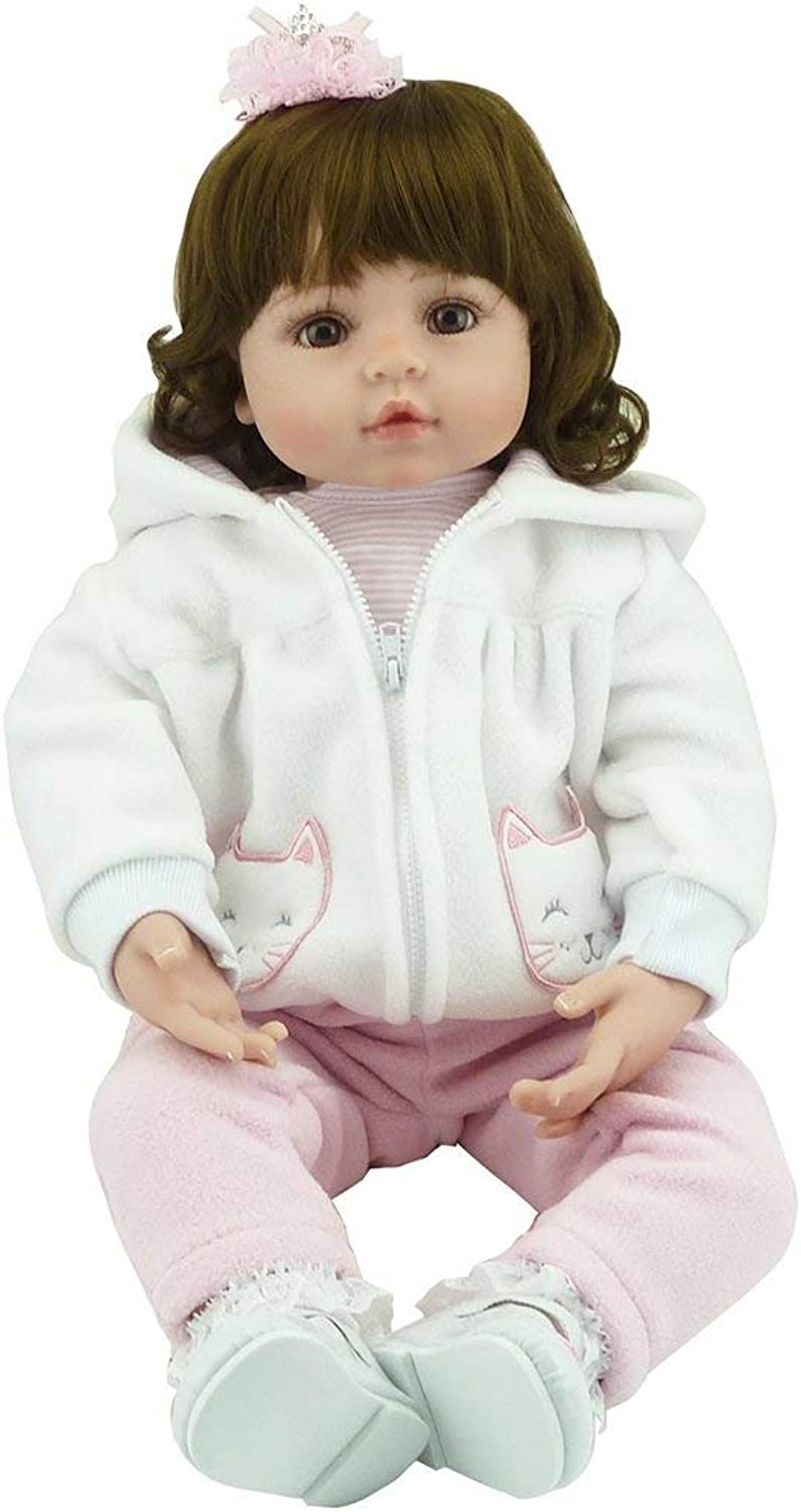 Swiftswan 22.8  Soft Silicone Vinyl Baby Doll Nontoxic Safe Toys Newborn Baby Doll Toys