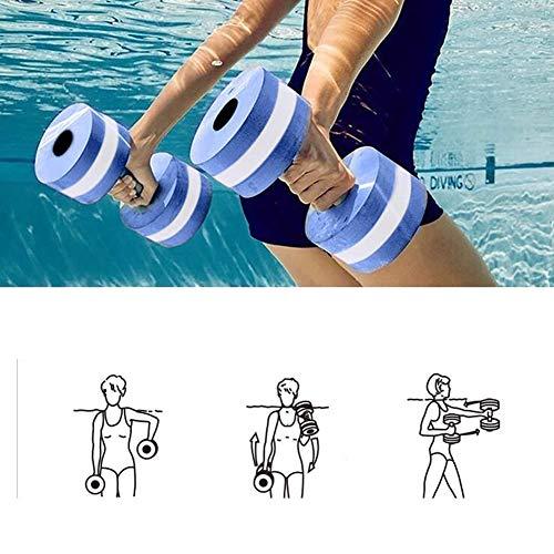 Mayyou Juego de 2 mancuernas para deportes acuáticos unisex para adultos, para aeróbic acuático, equipo de ejercicios de piscina, resistencia de gimnasia acuática y fitness
