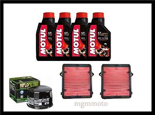 Tecneco Kit Honda Africa Twin 1000 Huile motul 7100 10 W40 Filtre air Huile