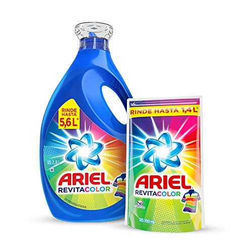 Ariel Revitacolor Detergente Liquido 2.8Lts + 700Ml
