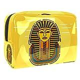 Bolsa de Maquillaje para niños Faraón de Egipto Vintage Accesorio de Viaje Neceser Pequeño Bolsas de Aseo Impermeable Cosmético Organizadores de Viaje 18.5x7.5x13cm